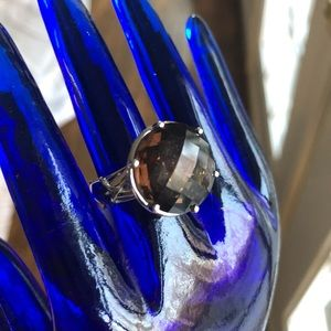 Jewelry - Sterling silver Amber stone ring